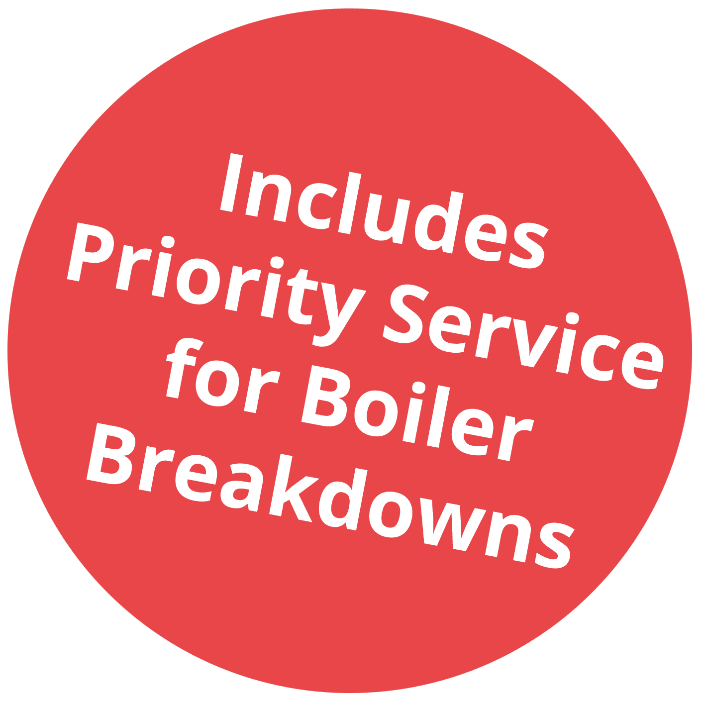 Priority service for boiler breakdowns