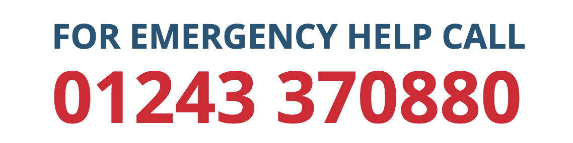For Emergency Help Call: 01243 370880